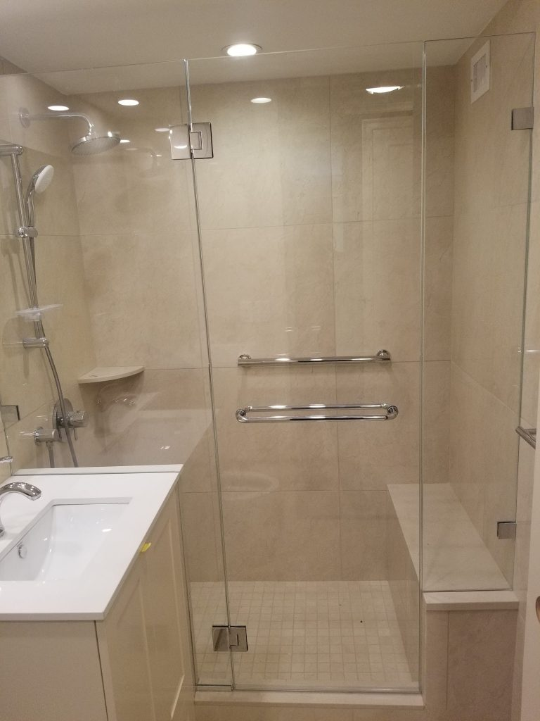 shower with bench in nyc