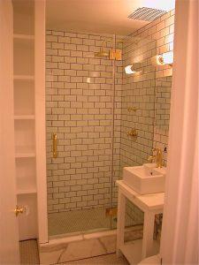 brass shower doors Manhattan