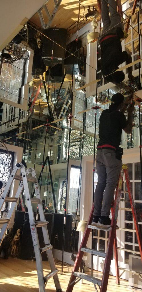 custom mirror wall in NYC